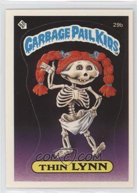 1985 Topps Garbage Pail Kids Series 1 - [Base] #29b.1 - Thin Lynn (Checklist Back)