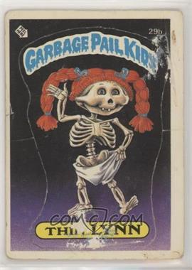 1985 Topps Garbage Pail Kids Series 1 - [Base] #29b.1 - Thin Lynn (Checklist Back) [PoortoFair]