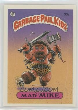 1985 Topps Garbage Pail Kids Series 1 - [Base] #33a - Mad Mike (diploma back)