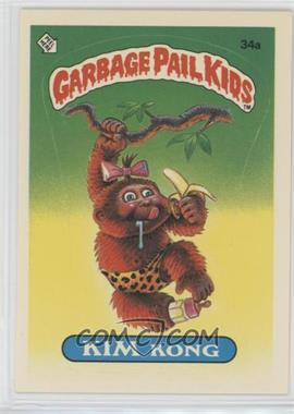 1985 Topps Garbage Pail Kids Series 1 - [Base] #34a - Kim Kong