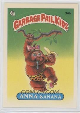 1985 Topps Garbage Pail Kids Series 1 - [Base] #34b.2 - Anna Banana (two star back)
