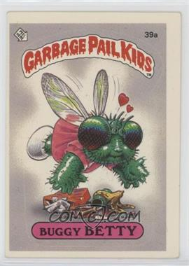 1985 Topps Garbage Pail Kids Series 1 - [Base] #39a - Buggy Betty