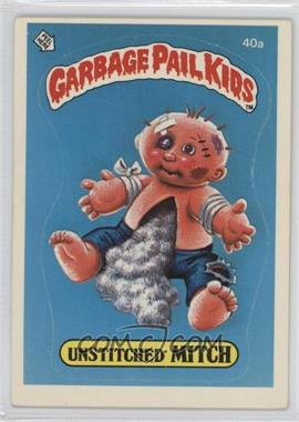1985 Topps Garbage Pail Kids Series 1 - [Base] #40a.1 - Unstitched Mitch (One Star Back)