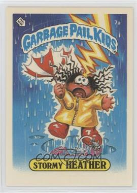 1985 Topps Garbage Pail Kids Series 1 - [Base] #7a.1 - Stormy Heather (One Star Back)