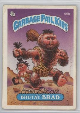 1985 Topps Garbage Pail Kids Series 2 - [Base] #55b.1 - Brutal Brad (Black Puzzle Back)