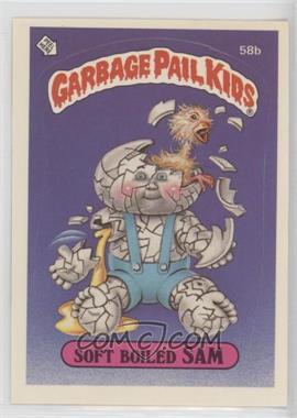 1985 Topps Garbage Pail Kids Series 2 - [Base] #58b.1 - Soft Boiled Sam (black back)