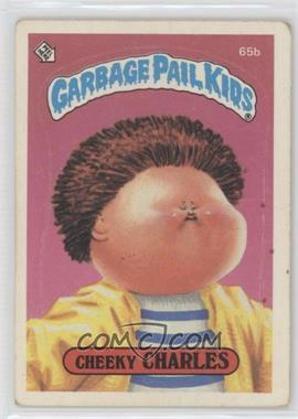 1985 Topps Garbage Pail Kids Series 2 - [Base] #65b.2 - Cheeky Charles (two star back)