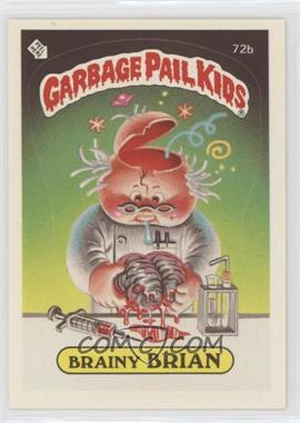 1985 Topps Garbage Pail Kids Series 2 - [Base] #72b.2 - Brainy Brian (Two Star Back)