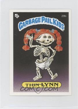 1986 Topps Garbage Pail Kids Series 1 - [Base] - UK Minis #29b.1 - Thin Lynn (Diploma Back)