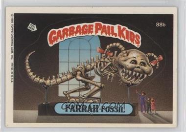 1986 Topps Garbage Pail Kids Series 3 - [Base] #88b - Farrah Fossil