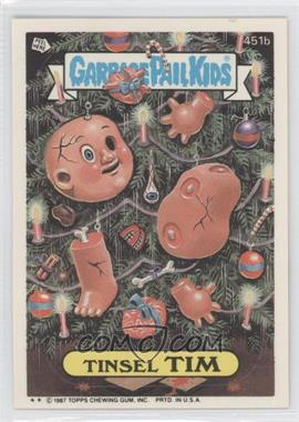 1987 Topps Garbage Pail Kids Series 11 - [Base] #451b.2 - Tinsel Tim (Two Star)