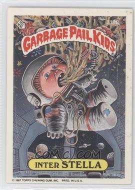 1987 Topps Garbage Pail Kids Series 8 - [Base] #318b.2 - Inter Stella (Thumb Puzzle Back)