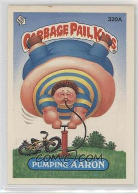 1987 Topps Garbage Pail Kids Series 8 - [Base] #320a.1 - Pumping Aaron (One Star Back)