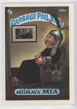 1987 Topps Garbage Pail Kids Series 9 - [Base] #356a.2 - Momma Mia (Two Star Back)