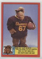 I was too small to play Quarterback, so they made me a one-eighth back! Har har!