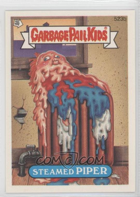 1988 Topps Garbage Pail Kids Series 13 Base 523b Steamed Piper