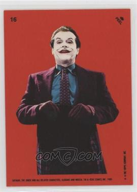 1989 Topps Batman - Stickers #16 - The Joker