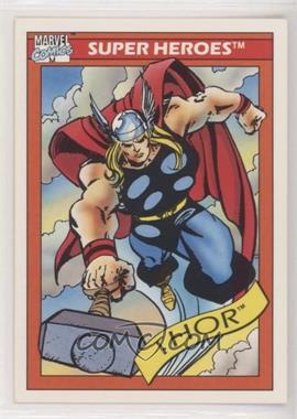 1990 Impel Marvel Comics Super Heroes - [Base] #18 - Thor