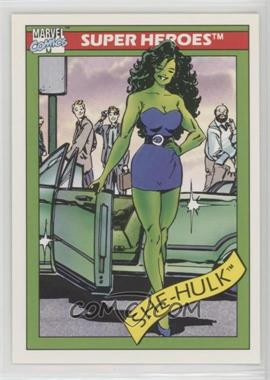 1990 Impel Marvel Comics Super Heroes - [Base] #39 - She-Hulk