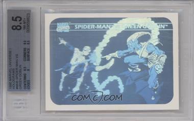 1990 Impel Marvel Comics Super Heroes - Holograms #MH5 - Spider-Man vs. Green Goblin [BGS8.5NM‑MT+]