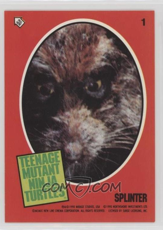 1990 Topps Teenage Mutant Ninja Turtles Movie Stickers 1 Splinter