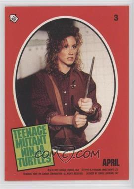 1990 Topps Teenage Mutant Ninja Turtles Movie Stickers 3 April April O Neil