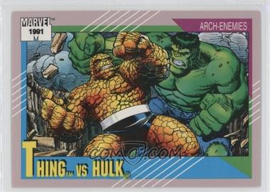 1991 Impel Marvel Universe Series 2 - [Base] #103 - Thing vs Hulk