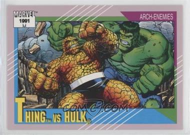 1991 Impel Marvel Universe Series 2 - [Base] #103 - Thing vs Hulk