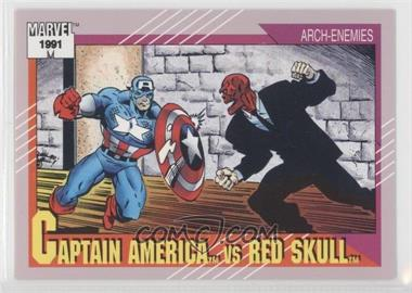 1991 Impel Marvel Universe Series 2 - [Base] #115 - Captain America vs Red Skull
