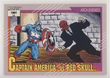 1991 Impel Marvel Universe Series 2 - [Base] #115 - Captain America vs Red Skull