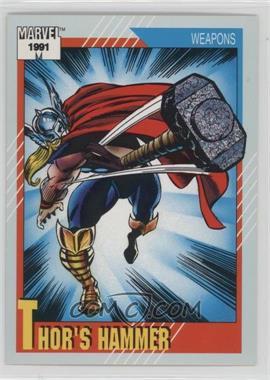1991 Impel Marvel Universe Series 2 - [Base] #128 - Thor's Hammer