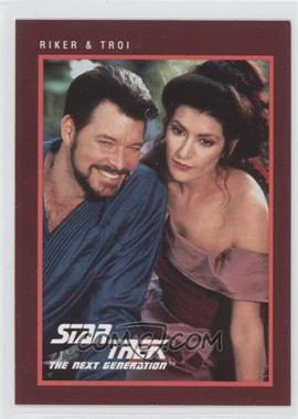 1991 Impel Star Trek 25th Anniversary - [Base] #272 - Riker & Troi