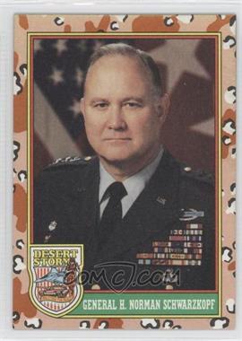 "1991 Topps Desert Storm - [Base] #4.1 - General Norman Schwartzkof (Yellow ""Desert Storm"")"