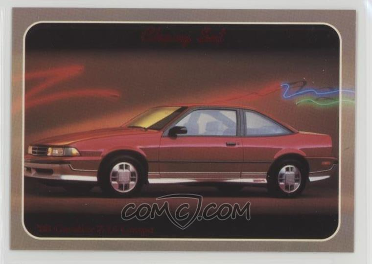 1992 collect a card chevy set base 99 1988 cavalier z 24 comc com