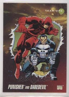 1992 Impel Marvel Universe Series 3 - [Base] #92 - Punisher, Daredevil
