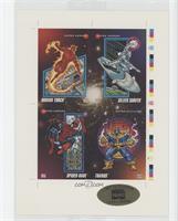 Human Torch, Silver Surfer, Spider-Man, Thanos #25844/30,000