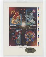 Human Torch, Silver Surfer, Spider-Man, Thanos #25850/30,000