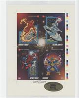 Human Torch, Silver Surfer, Spider-Man, Thanos #25849/30,000