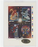 Human Torch, Silver Surfer, Spider-Man, Thanos #25846/30,000