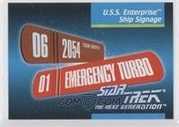 U.s.s. Enterprise Ship Signage