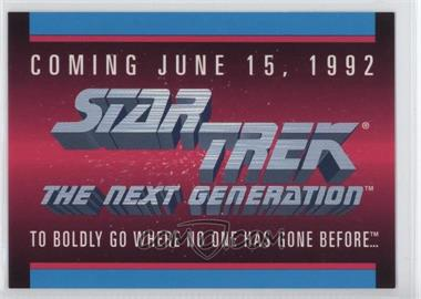 1992 Impel Star Trek The Next Generation - Sample #N/A - [Missing]