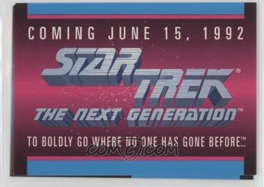 1992 Impel Star Trek The Next Generation - Sample #PROM - Coming June 15, 1992