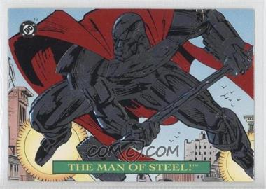 1993 SkyBox DC Bloodlines - Embossed Foil #S1 - The Man of Steel!