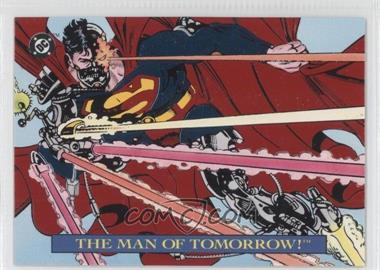 1993 SkyBox DC Bloodlines - Embossed Foil #S2 - The Man of Tomorrow!