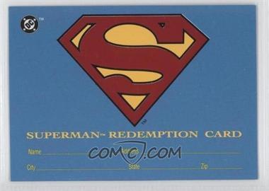 1993 SkyBox DC Bloodlines - Real Superman Redemption Card #S5 - [Missing]