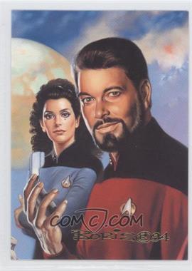 1993 SkyBox Master Series Star Trek - [Base] #F5 - Commander William Riker, Deanna Troi