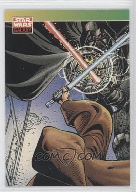 1993 Topps Star Wars Galaxy - [Base] #124 - New Visions - Darth Vader, Obi-Wan Kenobi