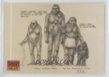 """1993 Topps Star Wars Galaxy - [Base] #19 - The Design of Star Wars - """"Typical Wookiee Family"""""""