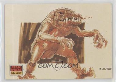 1993 Topps Star Wars Galaxy - [Base] #34 - The Design of Star Wars - The Rancor