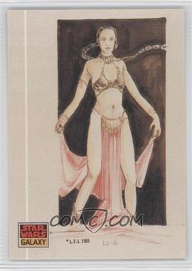 1993 Topps Star Wars Galaxy - [Base] #41 - The Design of Star Wars - Leia as a Pin-up